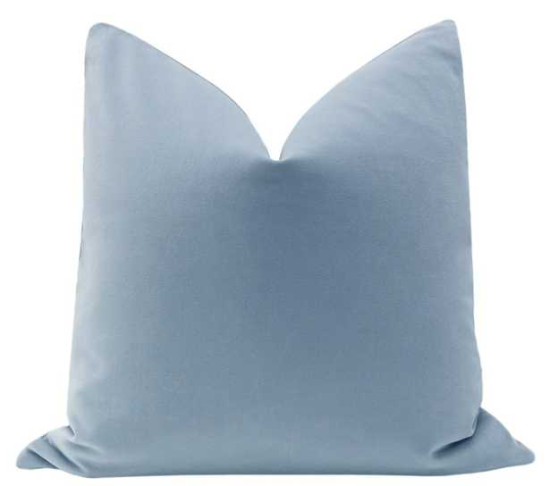 "Signature Velvet // Hydrangea Blue - 18"" X 18"" - Little Design Company"