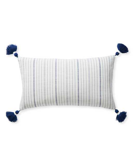 Surf Stripe Pillow Cover - Navy - 12x21 - Serena and Lily