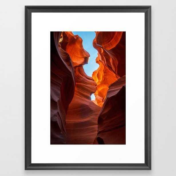 SAND & SKY ANTELOPE CANYON ARIZONA PHOTOGRAPHY Framed Art Print - Society6