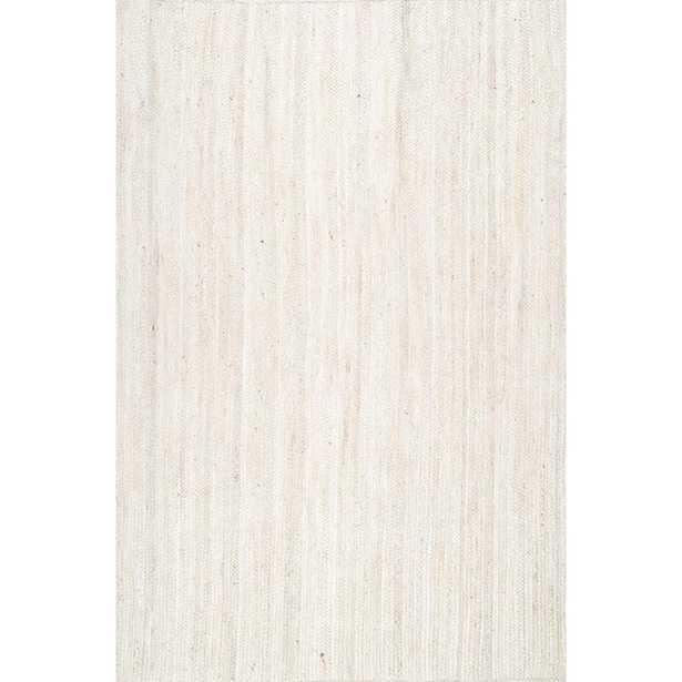 Rigo Chunky Loop Jute Off-White 9 ft. x 12 ft. Area Rug - Home Depot