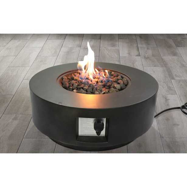 Aly Fiber Cast Concrete / Burner Stainless Steel Propane/Natural Gas Fire Pit Table - Wayfair
