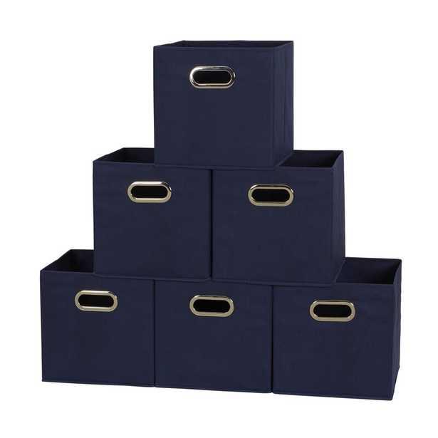 Open Fabric Storage Bin -  Set of 6 - Wayfair