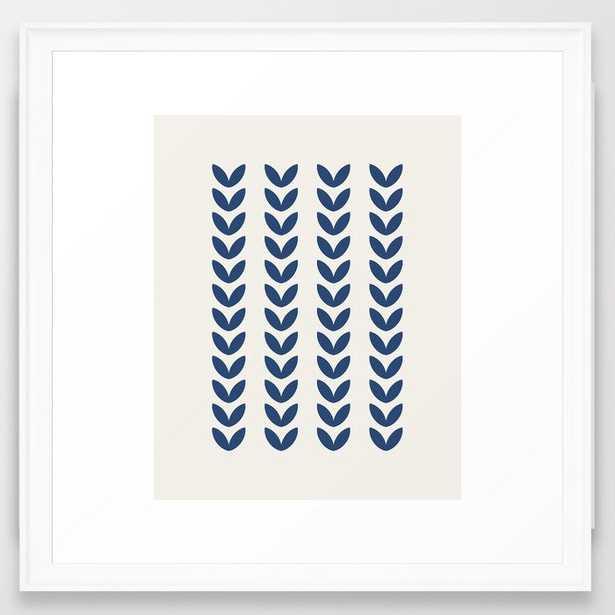Leaf Pattern - Scandinavian Framed Art Print - Society6