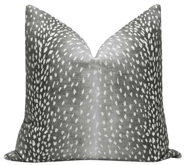 "Antelope Linen Print // Charcoal - 20"" X 20"" - Little Design Company"