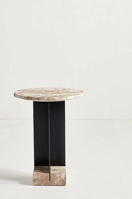 Kapri Marble Side Table - Anthropologie
