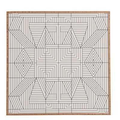 'Line Mandala' Framed Graphic Art - Wayfair