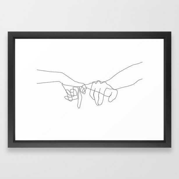 "Pinky Swear Framed Art Print- Vector Black Frame - 15"" x 21"" - Society6"