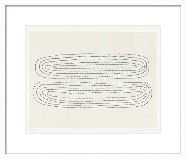 Looped - Contemporary White Wood Frame - Artfully Walls