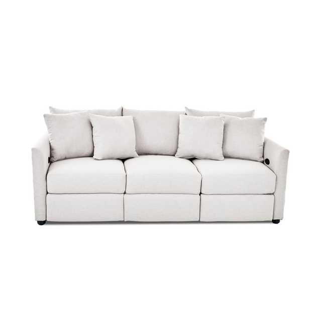 Georgia Reclining Sofa, Sustain® Dursky Ivory - Birch Lane