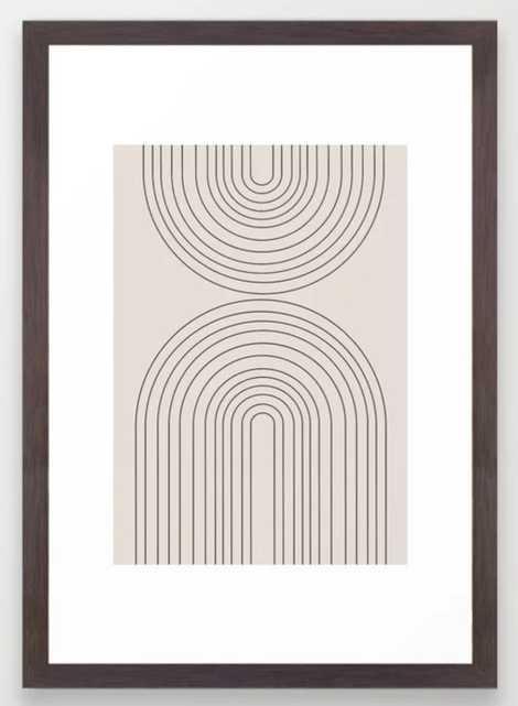 "Arch Art Framed Art Print, 15"" x 21"" - Society6"