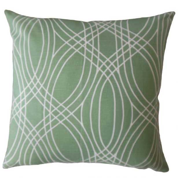 Gayla Geometric Pillow - Succulent - 18x18 with poly insert - Linen & Seam