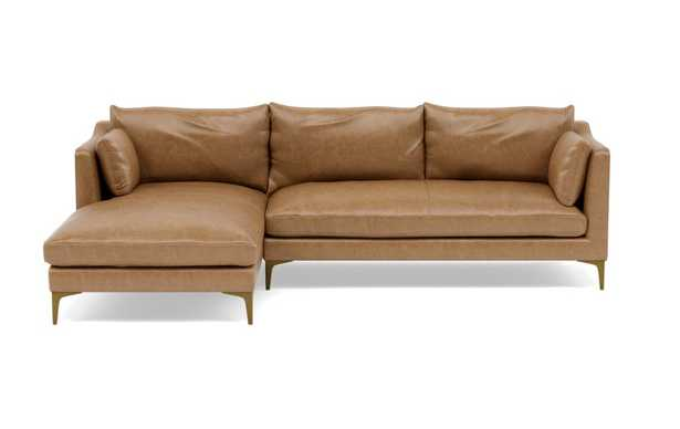 CAITLIN LEATHER BY THE EVERYGIRL - Leather Left Chaise Sectional - Interior Define
