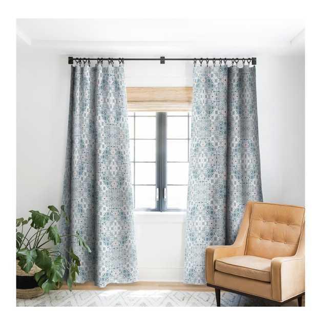 CERAMIC TILE PATTERNS Blackout Window Curtain -Single Panel - Wander Print Co.