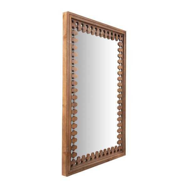 Bade Wood Cottage Distressed Wall Mirror - Wayfair