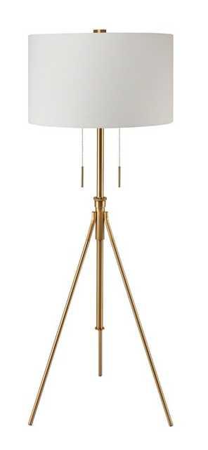 "Mantis Brass 71.75"" Tripod Floor Lamp - Wayfair"