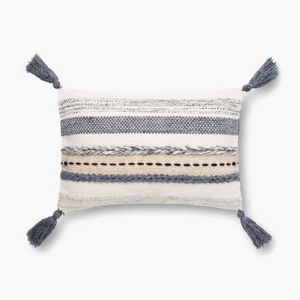 """P4128 ED Grey / Multi- 13"""" x 21"""" Down Filled - Loma Threads"""