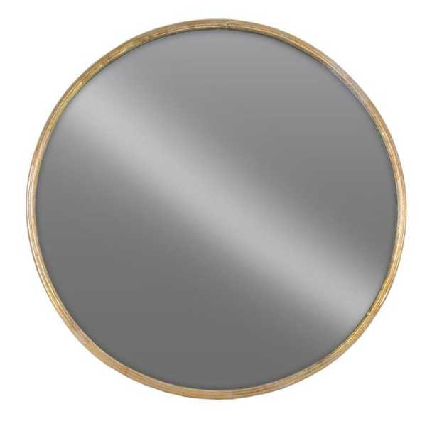 Round Gold Tarnished Wall Mirror - Home Depot
