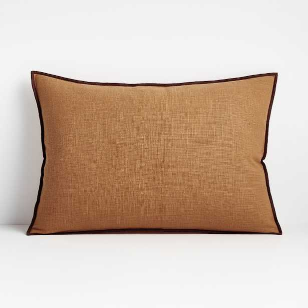 """Ori Amber 22""""x15"""" Pillow with Down-Alternative Insert - Crate and Barrel"""