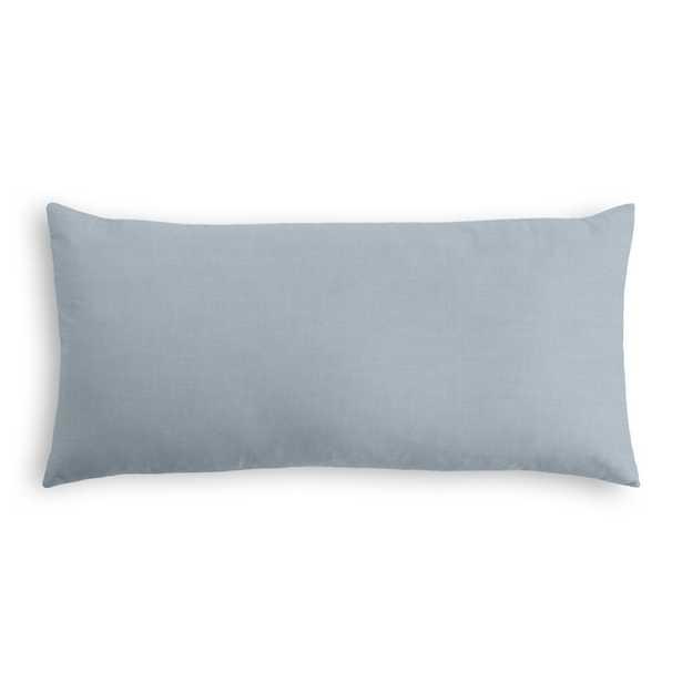 """Classic Linen Pillow, Dusk, 12"""" x 18"""" Lumbar, w/ down insert - Havenly Essentials"""