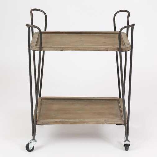 Borden 2 Tray Multipurpose Bar Cart - Wayfair