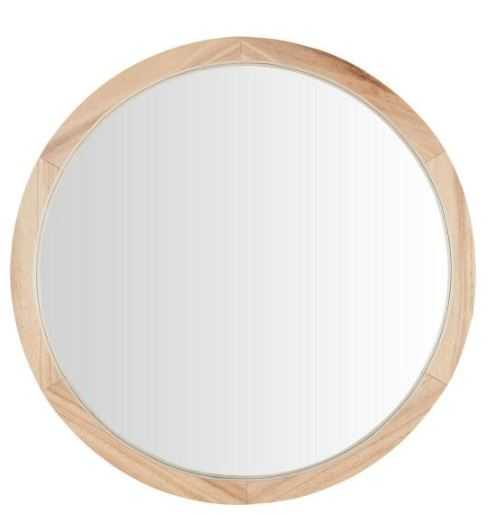 Natural Round Wood Framed Mirror - Home Depot