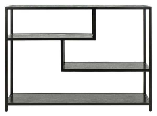 Reese Geometric Console Table, Black - Arlo Home