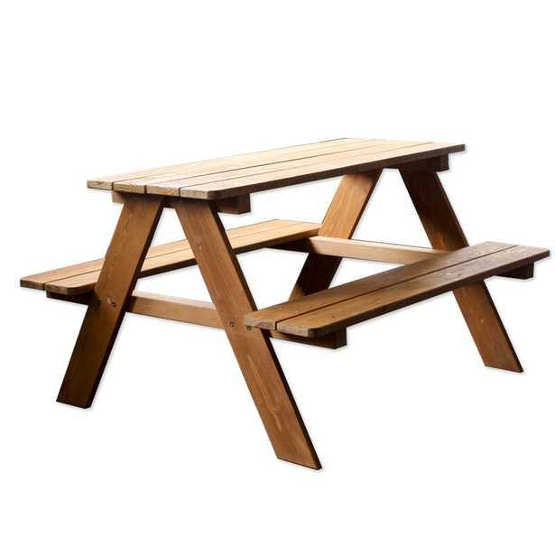 Brooten Wood Kids Rectangular Picnic Table - Wayfair