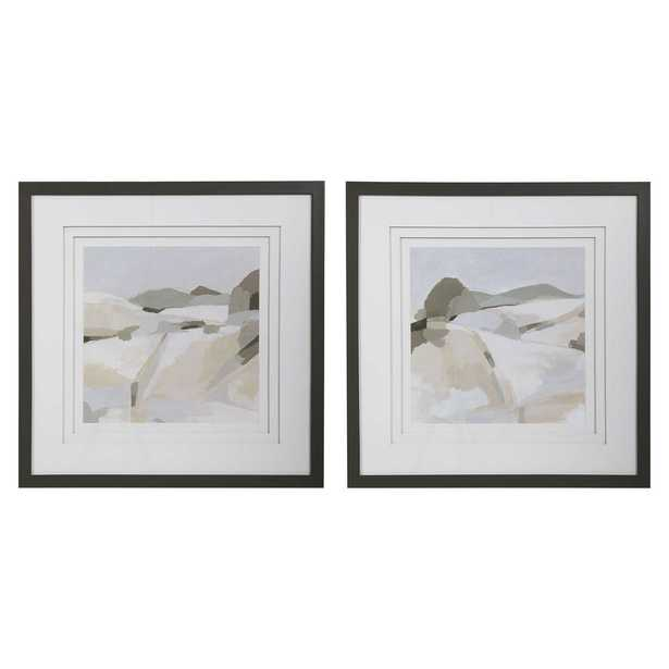 Western Landscape Modern Prints, S/2 - Hudsonhill Foundry