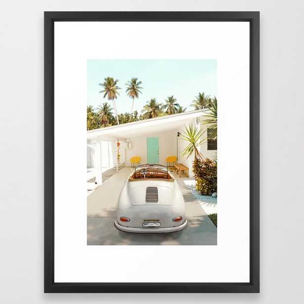 The Getaway House Framed Art Print - 20x26, vector black frame - Society6