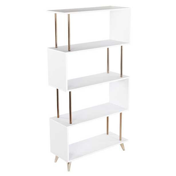 Doolittle Asymmetrical Geometric Bookcase - Wayfair
