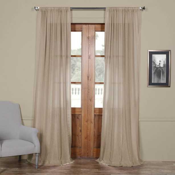 Cris Solid Sheer Rod Pocket Single Curtain Panel - Wayfair