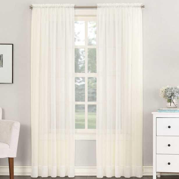 Emily Solid Color Sheer Rod Pocket Window Single Curtain Panel - Wayfair