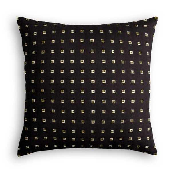 Stud Muffin - Black Pillow 18x18, Poly fiber insert - Loom Decor