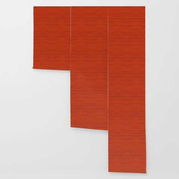 Meteor Stripes - Rust Orange Wallpaper - Society6