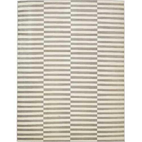 Kyree Warm Gray/Ivory Area Rug - Wayfair