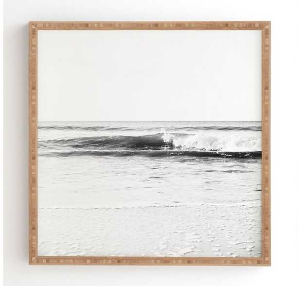 "SURF BREAK Framed Wall Art By Bree Madden (21""x21"" Framed) - Wander Print Co."