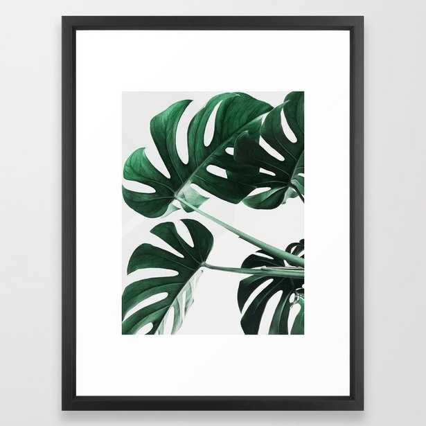 Monstera, Leaves, Plant, Green, Scandinavian, Minimal, Modern, Wall art Framed Art Print - Society6