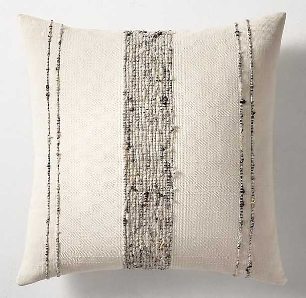 HANDWOVEN MARLED BOLD CENTER STRIPE PILLOW COVER BY AZULINA HOME - SQUARE - RH