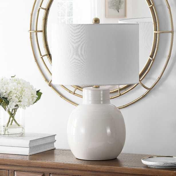 "Ilo 24"" Ivory Table Lamp - Wayfair"