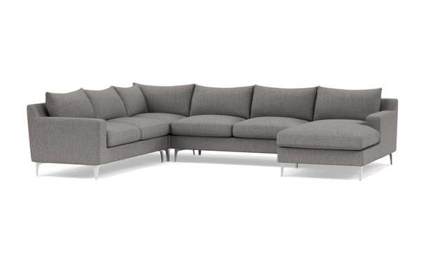 SLOAN 4-Piece Corner Sectional Sofa with Right Chaise - Interior Define