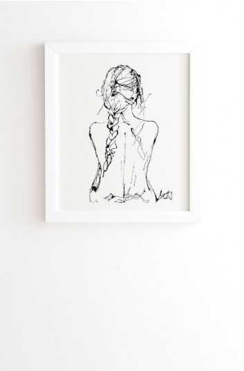 THE CHLOE- white frame 14 x 16.5 - Wander Print Co.