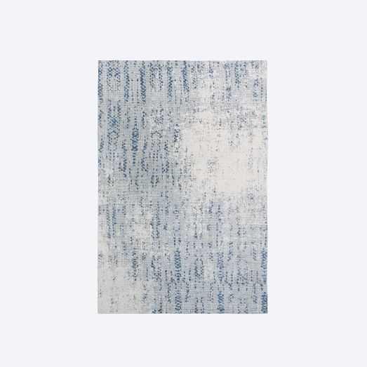 Distressed Foliage Rug, Moonstone, 6'x9' - West Elm