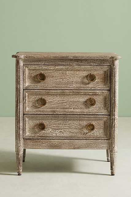 Washed Wood Nightstand / Natural - Anthropologie