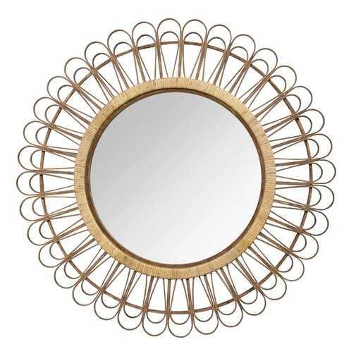 Assia Rattan Eclectic Accent Mirror - Wayfair