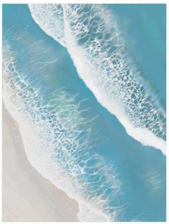 Foam From Above - Print 18x24 - Minted