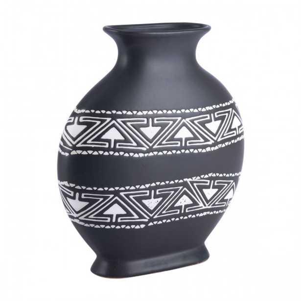 Kolla Medium Vase Black & White - Zuri Studios