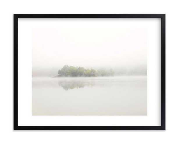 "The Island, 24""x18"", Framed/WhiteBorder - Minted"