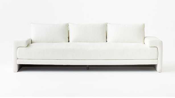 CAMDEN WHITE SOFA - CB2