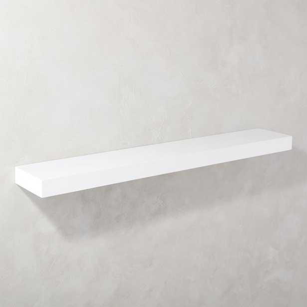"""Calvin Hi-Gloss White Floating Shelf 48"""" - CB2"""