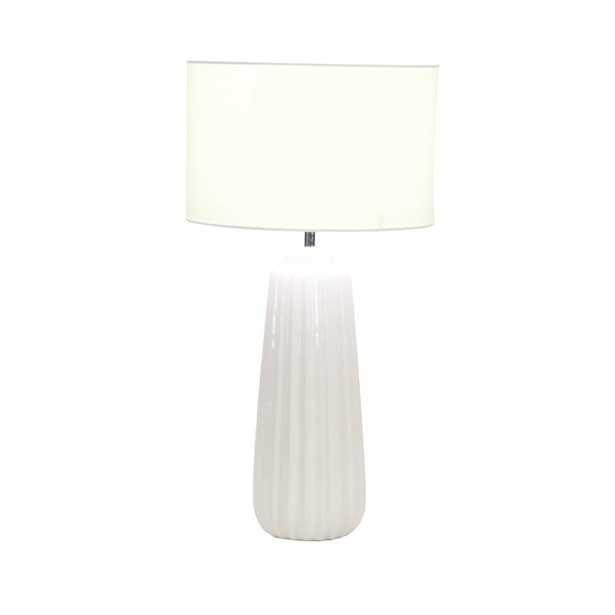 """24"""" H x 13"""" W x 13"""" D White Base/White Shade Cahoon Table Lamp - Wayfair"""